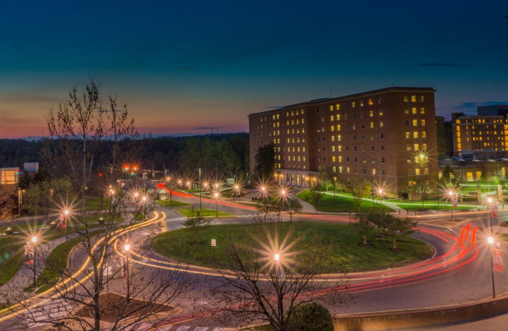 A time-lapse image of the University of Maryland.